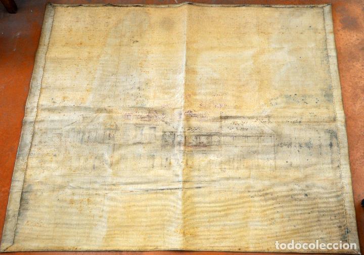 Antigüedades: FIRMADO PUIGDENGOLAS. BONITO TAPIZ PINTADO Y FECHADO DEL AÑO 1917 - Foto 8 - 73993287