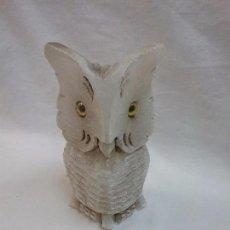 Antigüedades: FIGURA ANIMAL BUHO DE PIEDRA . Lote 74074867