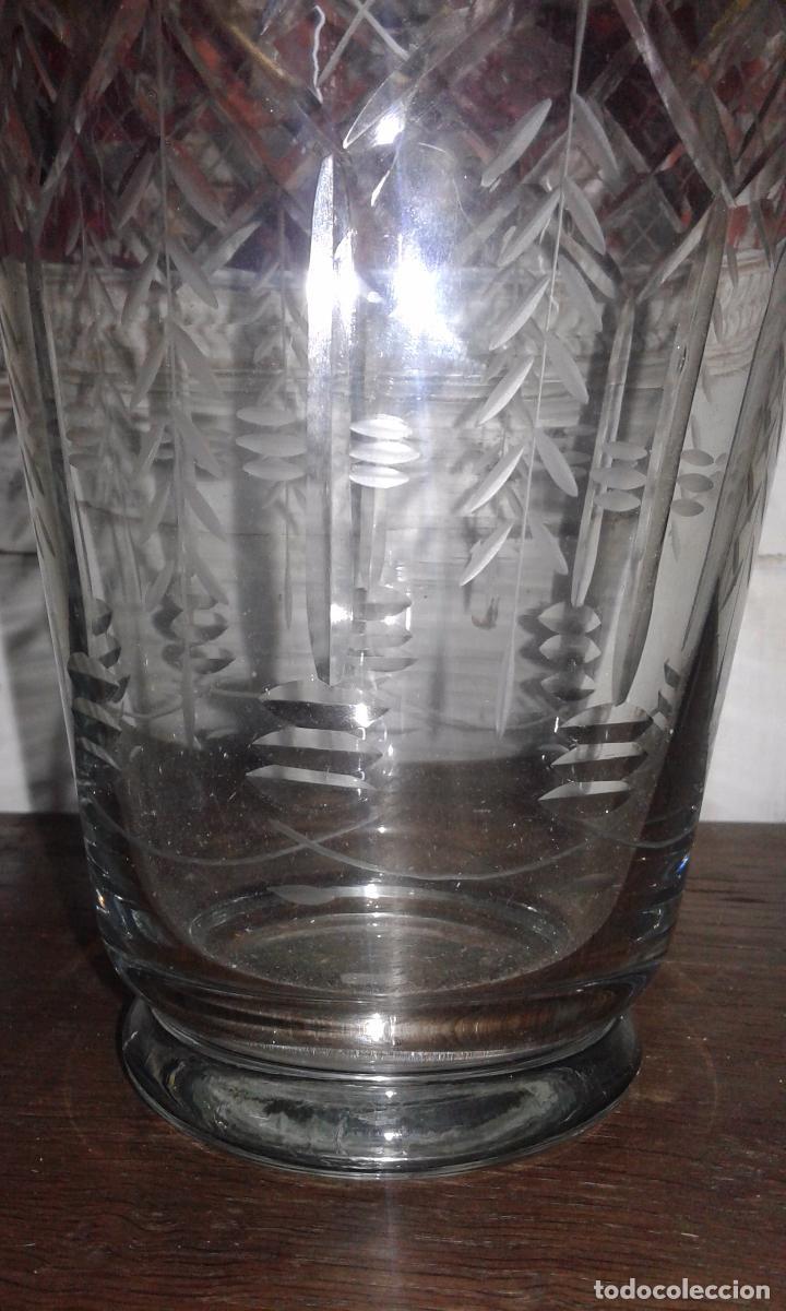 Antigüedades: Jarrón cristal tallado - Foto 2 - 30157859