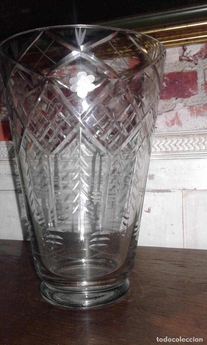 Antigüedades: Jarrón cristal tallado - Foto 4 - 30157859