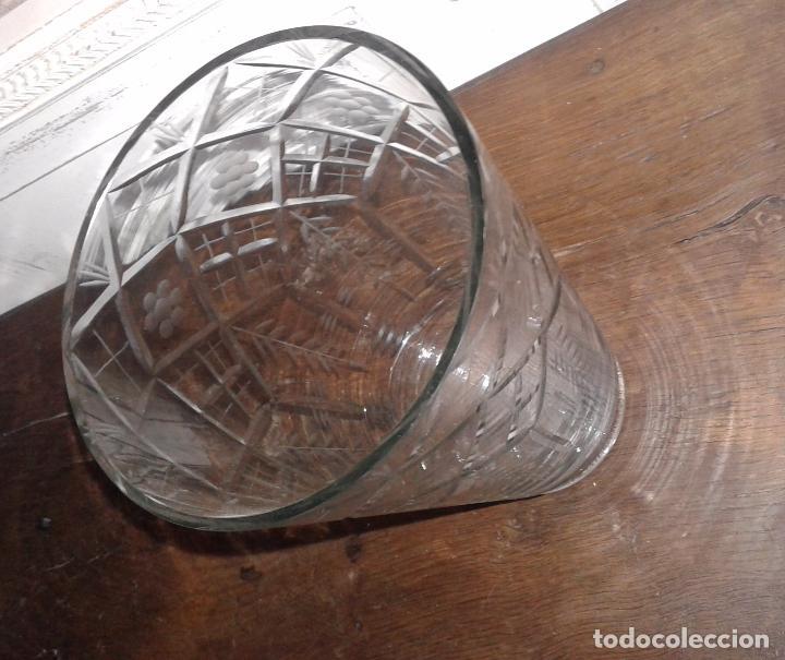 Antigüedades: Jarrón cristal tallado - Foto 5 - 30157859