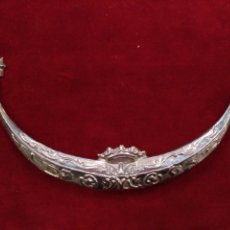 Antigüedades: MEDIA LUNA CON BAÑO DE PLATA (NUEVO) 15 CM. Lote 204985903