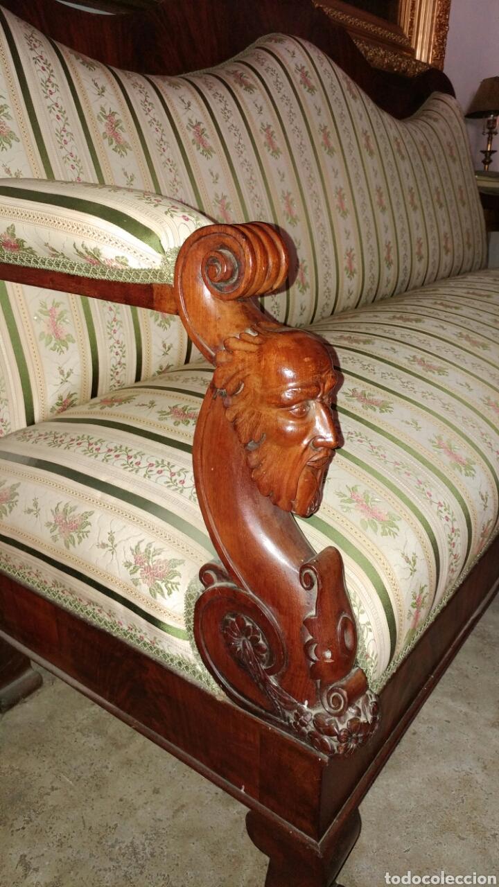 "Antigüedades: Sofa fernandino ""imperio"" s.xix. - Foto 3 - 74155186"