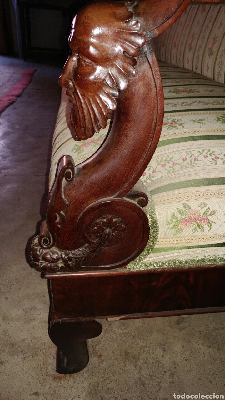 "Antigüedades: Sofa fernandino ""imperio"" s.xix. - Foto 4 - 74155186"