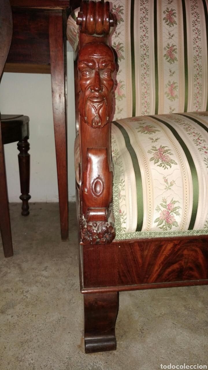 "Antigüedades: Sofa fernandino ""imperio"" s.xix. - Foto 6 - 74155186"
