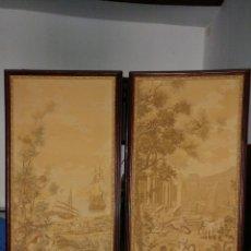 Antigüedades: TAPICES ANTIGUOS. PANELES CON TAPICES.. Lote 74163810