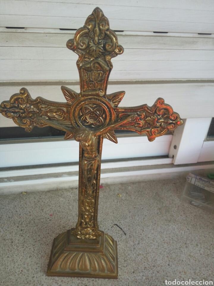 CRUZ, BRONCE, CRUCIFIJO, CRISTO, ANTIGUO (Antigüedades - Religiosas - Crucifijos Antiguos)