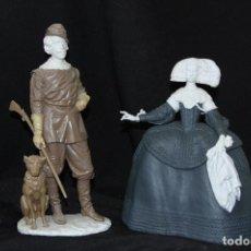 Antigüedades: FELIPE IV Y MARIANA DE AUSTRIA EN AUTÉNTICA PORCELANA ALGORA DOCUMENTADA. PERFECTO ESTADO. Lote 74245763