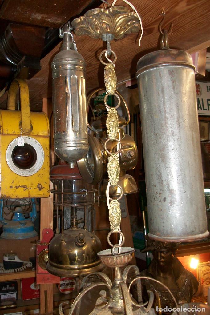 Antigüedades: ANTIGUA LAMPARA DE TECHO-BRONCE - Foto 3 - 163310385