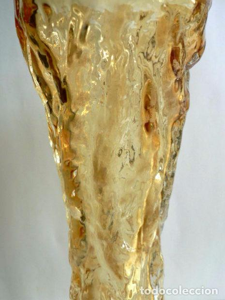 Antigüedades: FLORERO DE CRISTAL INGLES WHITEFRIARS DISEÑO DE GEOFFREY BAXTER AÑOS 70 COLOR AMBAR - Foto 5 - 74280643