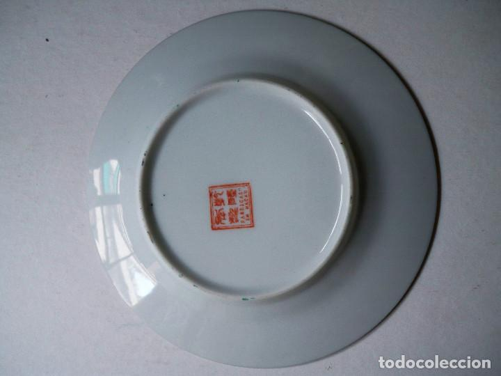Antigüedades: PLATO CHINO PORCELANA CHINA ORIENTAL SELLADO 16CM - Foto 4 - 74345399