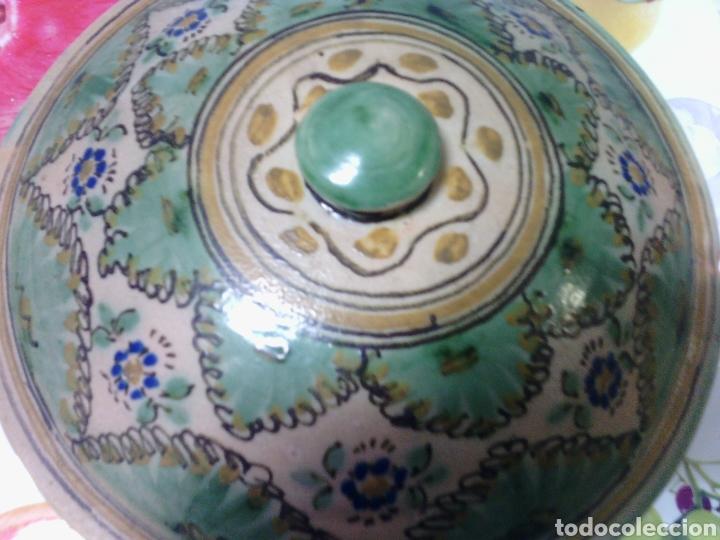 Antigüedades: ANTIGUA SOPERA DE CERÁMICA DE PUENTE DEL ARZOBISPO. 24 CM DE DIÁMETRO. - Foto 2 - 74347658