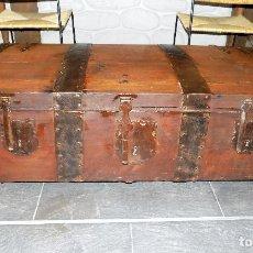 Antigüedades: RARA PIEZA. ARCA DE AYUNTAMIENTO O PRIVILEGIO. TRES CERRADURAS. SIGLO XVIII. 1,26 M DE LARGO. Lote 74389995