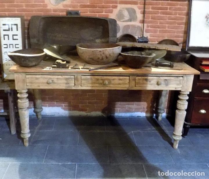antigua mesa de cocina, años 40-50. decapada, b - Comprar Mesas ...