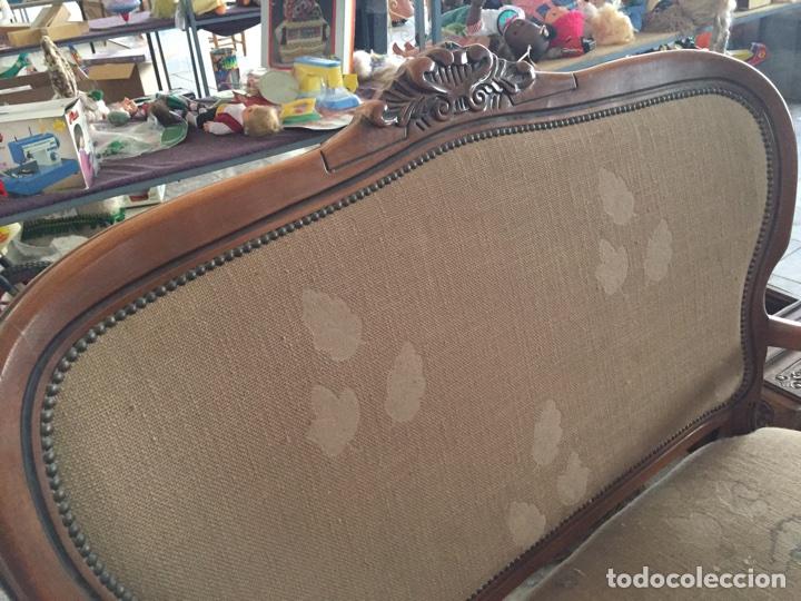 Antigüedades: Tresillo - Sofa estilo isabelino, 121cm de largo - Foto 3 - 74418851