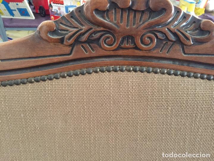 Antigüedades: Tresillo - Sofa estilo isabelino, 121cm de largo - Foto 6 - 74418851