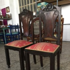 Antigüedades: PAREJA DE SILLAS ANTIGUAS. Lote 74421265
