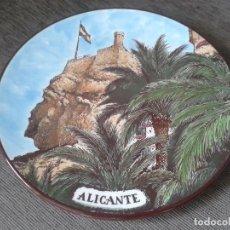 Antigüedades: PLATO ORNAMENTAL - LA CARA DEL MORO - ALICANTE - FABRICADA Y PINTADA A MANO - MG CERÁMICAS - 22,5 CM. Lote 74470003