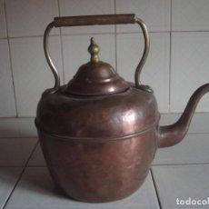 Antigüedades: ANTIGUA TETERA MARROQUÍ DE COBRE Y LATÓN PARA USO COMERCIAL. 31 X 30 CM. Lote 74501959