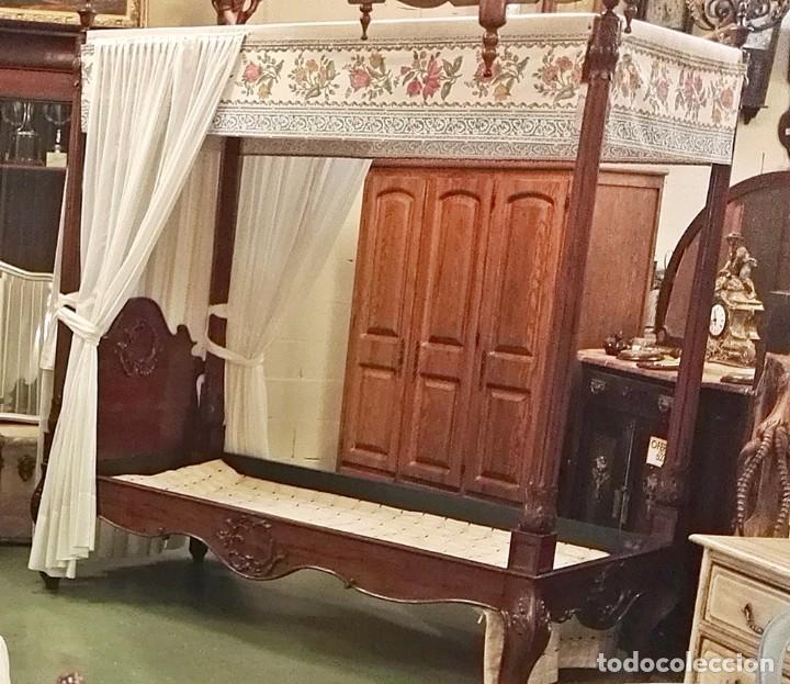 cama con dosel antigedades muebles antiguos camas antiguas