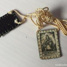 Antigüedades: ESCAPULARIO VIRGEN DEL CARMEN SIN USAR. Lote 74542595