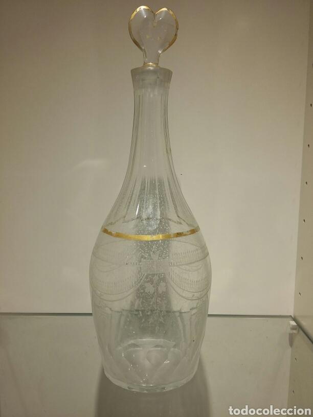 Antigüedades: Pareja de jarras de vino en cristal de la Granja siglo XVIII - Foto 3 - 74566115