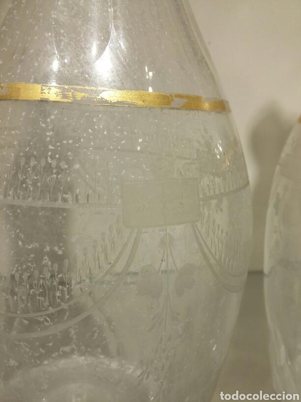 Antigüedades: Pareja de jarras de vino en cristal de la Granja siglo XVIII - Foto 5 - 74566115