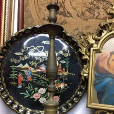 Antigüedades: CANDELABRO BRONCE DE IGLESIA - MEDIDA 45 CM - SEMANA SANTA - RELIGIOSO - VIRGEN - CRISTO - CAPILLA. Lote 74611747