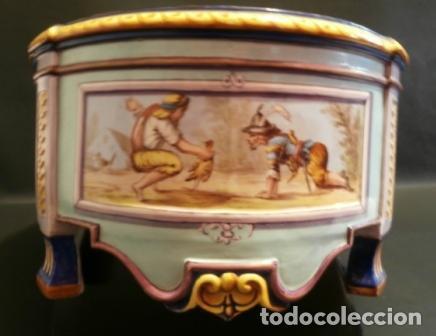 Antigüedades: Jardinera porcelana J. VIEILLARD -1829-1895 - Foto 3 - 74655843