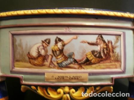 Antigüedades: Jardinera porcelana J. VIEILLARD -1829-1895 - Foto 5 - 74655843