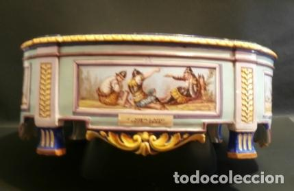 Antigüedades: Jardinera porcelana J. VIEILLARD -1829-1895 - Foto 6 - 74655843