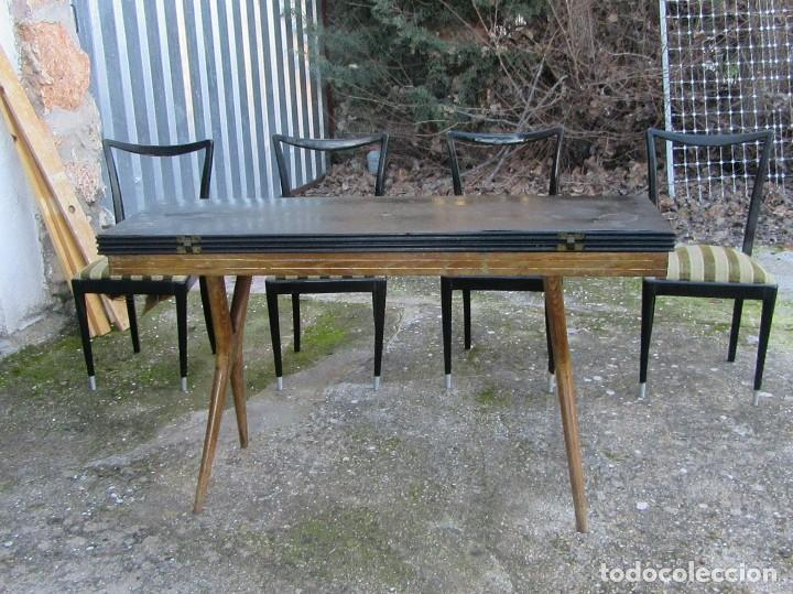 mesa y sillas comedor vintage antigedades muebles antiguos mesas antiguas - Comedor Vintage