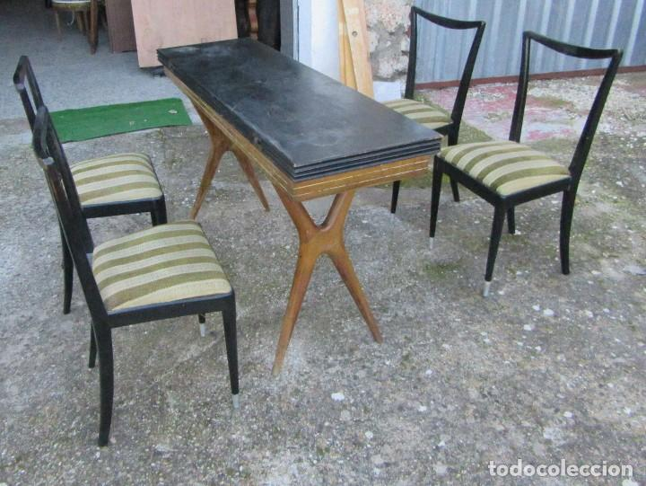 mesa y sillas comedor vintage - Comprar Mesas Antiguas en ...