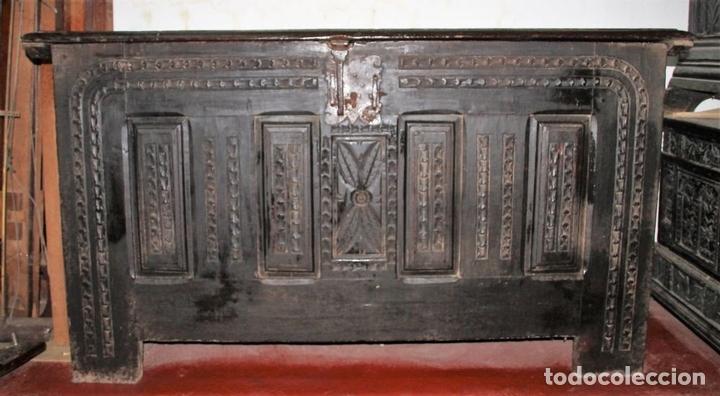 Antigüedades: GRAN ARCÓN. NORTE DE ESPAÑA. MADERA DE ROBLE. BARROCO. SIGLO XVII-XVIII. - Foto 2 - 74673931
