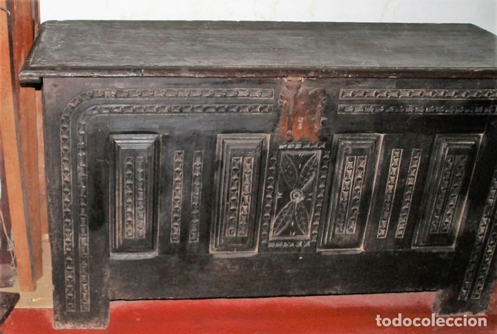 Antigüedades: GRAN ARCÓN. NORTE DE ESPAÑA. MADERA DE ROBLE. BARROCO. SIGLO XVII-XVIII. - Foto 4 - 74673931