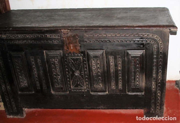 Antigüedades: GRAN ARCÓN. NORTE DE ESPAÑA. MADERA DE ROBLE. BARROCO. SIGLO XVII-XVIII. - Foto 5 - 74673931
