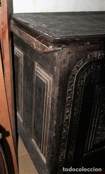 Antigüedades: GRAN ARCÓN. NORTE DE ESPAÑA. MADERA DE ROBLE. BARROCO. SIGLO XVII-XVIII. - Foto 6 - 74673931