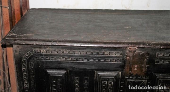Antigüedades: GRAN ARCÓN. NORTE DE ESPAÑA. MADERA DE ROBLE. BARROCO. SIGLO XVII-XVIII. - Foto 7 - 74673931