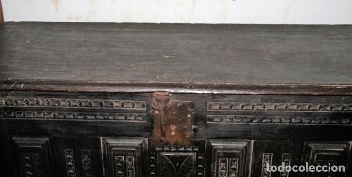 Antigüedades: GRAN ARCÓN. NORTE DE ESPAÑA. MADERA DE ROBLE. BARROCO. SIGLO XVII-XVIII. - Foto 8 - 74673931