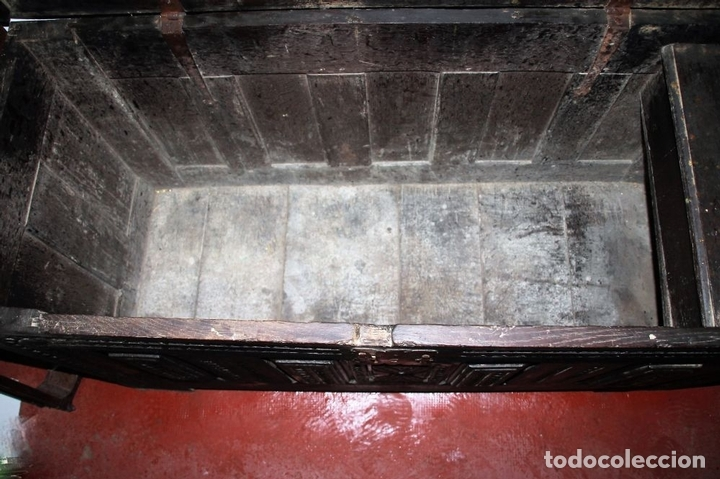 Antigüedades: GRAN ARCÓN. NORTE DE ESPAÑA. MADERA DE ROBLE. BARROCO. SIGLO XVII-XVIII. - Foto 13 - 74673931