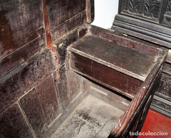 Antigüedades: GRAN ARCÓN. NORTE DE ESPAÑA. MADERA DE ROBLE. BARROCO. SIGLO XVII-XVIII. - Foto 15 - 74673931