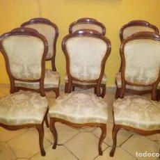 Antigüedades: JUEGO DE SEIS SILLAS DE COMEDOR. Lote 74674939