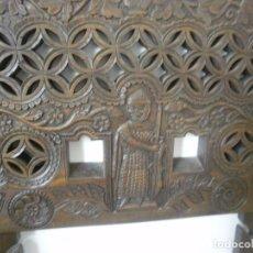 Antigüedades: ANTIGUA PAREJA DE PIEZAS DE MADERA. Lote 74689551