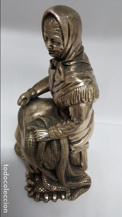 Antigüedades: MAGNIFICA Y ANTIGUA FIGURA DE MUJER , BAÑADA EN PLATA DE LEY DE MEDIDAS 21 CTMS DE ALTO - - Foto 2 - 278831958