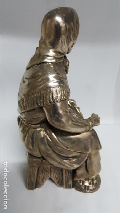 Antigüedades: MAGNIFICA Y ANTIGUA FIGURA DE MUJER , BAÑADA EN PLATA DE LEY DE MEDIDAS 21 CTMS DE ALTO - - Foto 3 - 278831958