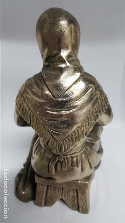 Antigüedades: MAGNIFICA Y ANTIGUA FIGURA DE MUJER , BAÑADA EN PLATA DE LEY DE MEDIDAS 21 CTMS DE ALTO - - Foto 4 - 278831958
