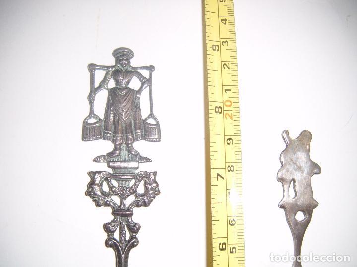 Antigüedades: CUBIERTOS DE SERVIR EN ALPACA CON FILIGRANA - Foto 5 - 74711107