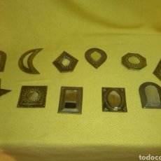 Antigüedades: ESPEJOS LATÓN ARABE. Lote 74713821