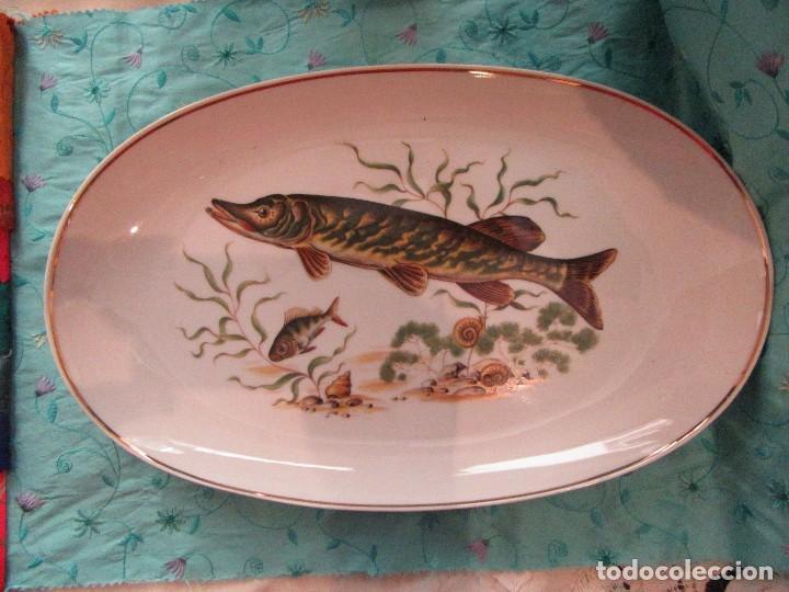 JUEGO DE PORCELANA PARA PESCADO (Antigüedades - Porcelanas y Cerámicas - Otras)