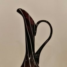 Antiquitäten - Jarra de cristal negra y blanca estilo Empoli. - 73946651